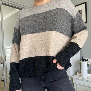 Striped Cozy Pullover Sweater